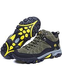 Pattini di alta scarpa in pelle superiore scarpe da tennis all aperto e  inverno impermeabili antiscivolo e durevoli per trekking… 08e5b501543