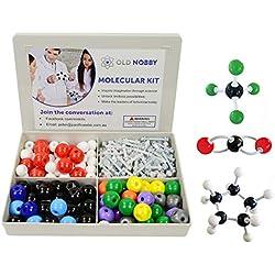 Molecular Model Kit (239piezas) Juego de química avanzada con guía de instrucciones-Química Estructura Kit para química profesores, alumnos y jóvenes científicos con átomos, bonos y orbitals