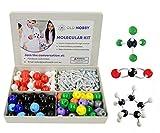Kit modello molecolare (239pezzi), modellino di chimica avanzato, con guida di istruzioni, per insegnanti, studenti e giovani scienziati con atomi, legami e orbite