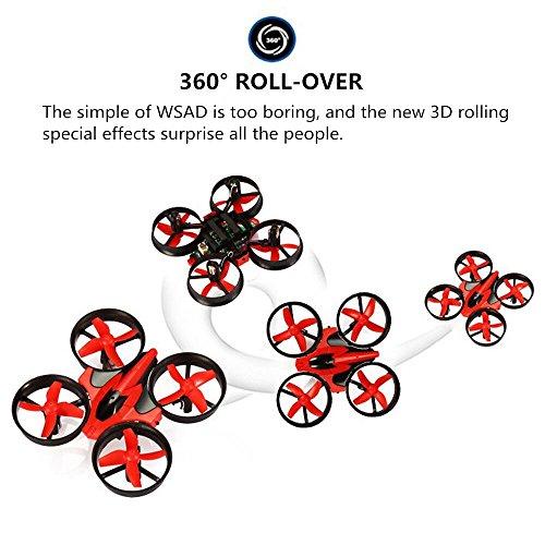 Quadcopter  EACHINE E010 Helicopteros Cuadricopteros Drone Regalo de Navidad Drone Mini Drone 2.4G 4CH 6 Axis Headless RC Nano Teledirigido Quadcopter RTF Modo 2 (Rojo)