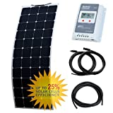 150W Photonic Universe flexible solar charging kit made of back-contact cells with strong ETFE coating, for a motorhome, caravan, campervan, rv, lorry, trailer, or for a boat/yacht, or an off-grid solar power system