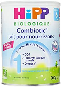 Hipp Biologique Lait 1 Combiotic pour nourrisson de 0-6 mois - 3 boîtes de 900 g