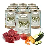 AniForte® PureNature Nassfutter 400g Country Beef Hundefutter- Naturprodukt für Hunde (Feines Rind, 12x400g)