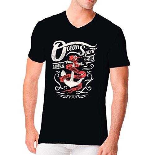 Im-Shirt - Ocean Spirit cooles Fun Men V-Neck - verschiedene Farben Schwarz
