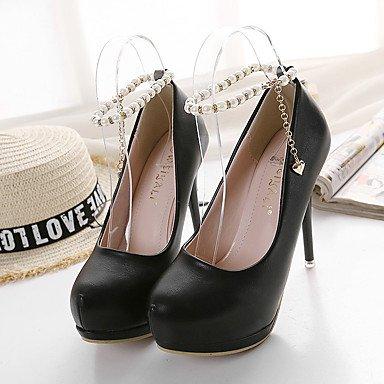 Moda Donna Sandali Sexy donna tacchi Primavera / Estate Autunno / Piattaforma / cinturino alla caviglia PU Office & Carriera / Party & Sera Stiletto Heel imitazione PearlBlack / Black