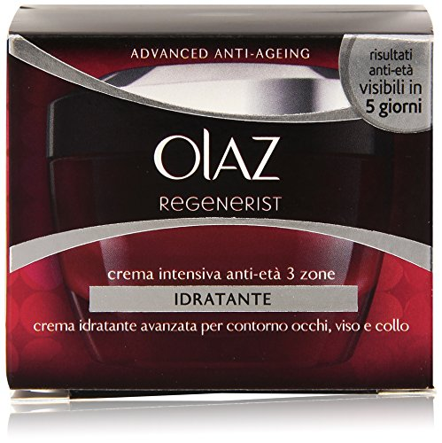 Olaz - Crema Intensiva Anti-Età, 3 zone, Idratante - 50 ml