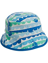 Toby Tiger Baby Girls Boat Reversible Sunhat Hat