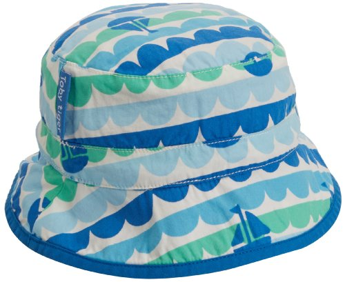 Toby Tiger Baby-Mädchen Strickmütze Boat Reversible Sunhat, Blau (Blue), 68 -