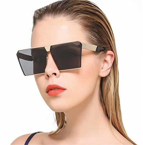 Madlst Polarisierte Sport-Sonnenbrille, Metall, modisch, Retro Wayfarer Siehe Produktbeschreibung Gold frame