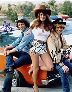 DUKES OF HAZZARD SIGNED PHOTO PRINT APPROX SIZE 12X8 INCHES
