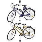 Relaxdays Support de vélo télescopique pour 2 vélos réglable 160-340 cm