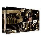 Premium Textil-Leinwand 75 cm x 50 cm quer Ein Motiv aus dem Kalender Zündapp DB 200 | Wandbild, Bild auf Keilrahmen, Fertigbild auf echter Leinwand, Leinwanddruck