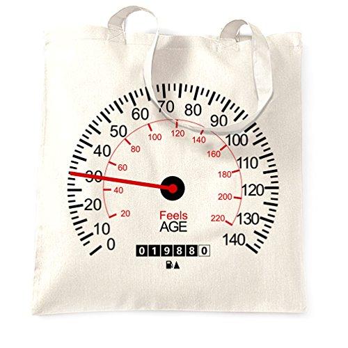 Tim And Ted Autos Tragetasche Speedometer 30. Geburtstag Auto-Weinlese Race Track Racer Geschwindigkeit (Motor Geschwindigkeit 1)