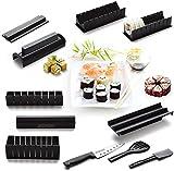 Sushi Maker Kit, AGPtek 10 Pieces Complete Home Sushi Making Kit DIY Easy Chef Set Rice Roll Mold Mould Roller Cutter