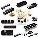 AGPtek Sushi Maker Kit de Moule à faire Sushi et Roll de Riz DIY Cuisine Simple Set de Moule à Couper Roll