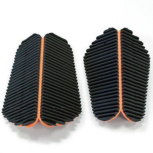 Piccolo: 30x34cm Nero//Arancione Misura Grande: 33x38cm G2C Mondaplen FootWave Set 2 tappetini Dopo Sport con l/'Effetto massaggiante per Proteggere i Piedi da germi e Funghi in Palestra