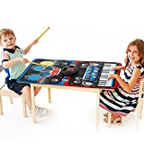 INTEY Piano Mat Foldable Party Dance Playmat with 24-key Piano and 5 Pieces Drum