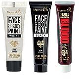 MesmerEyez Halloween Make-up, Schwarze und Weiße Gesichts- und Körpercreme und Kunstblut, 16,6ml