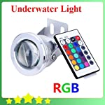 Red Green Blue color very beautiful, perfect for decoration. Super bright LED light. High luminous efficiency and long life span. Very Low consumption Easy installation, adjustable stand lets you point the light at different angles. Waterproof, shake...