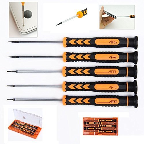 Opening Screwdriver Dissasembly Tool Kit for iphone, Macbook - Philips 1.2 and 1.5, 0.8 and 1.2 star pentalobe screwdriver for Macbook