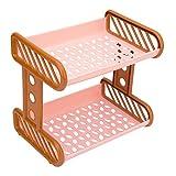 PIKASO Premium Durable And Portable Multipurpose Plastic Storage Rack, Bridge And Stacker Racks Shelf-2 Tires, Pink