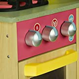 Teamson Kids - Little Chef Wooden Toy Play Kitchen with Accessories - Burlywood | Pretend Play