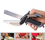 Alimentaire Chopper 2 in 1 découper de cuisine Ciseaux Cutter Outil de coupe légumes fruits comme