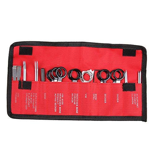 prettygood7 Werkzeug-Set zum Entfernen von Stereo-Headunit Audiokomponenten für Fahrzeug-Radio, Touchscreen, MP5-Player, Bluetooth, FM-Radio, Video-Receiver