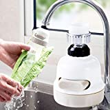 TAOtTAO Water Saving Devices 360 Rotary Wasserhahn Booster Küche Filter Wasserspargerät