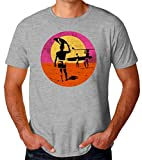 ABDesign Surfing Paradise Artwork T-Shirt pour Hommes Medium
