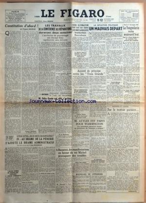 figaro-le-no-388-du-11-11-1945-constitution-dabord-par-mauriac-les-travaux-de-la-conference-des-repa