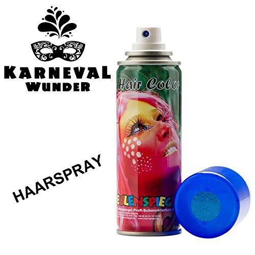 Eulenspiegel 819548 - Glitzer Haarspray Blau, 125ml