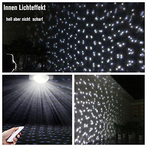 SMITHROAD LED Projektionslampe mit Fernbedienung Bewegliche Punkte Schneefall-Lichteffekt – Halloween – Karneval – Weihnachten Innen & Außen - 3