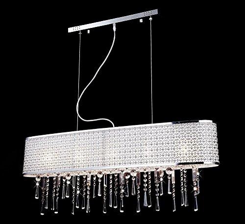 Design vetro cristallo plafoniera lampadario lampada a sospensione ciondolo luce