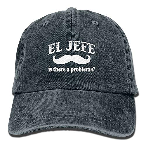 errterfte EL Jefe The Boss in Spanish Funny Mexican Cotton Jean Cap Baseball Caps for Adult Personalized Hat Comfortable Adjustable