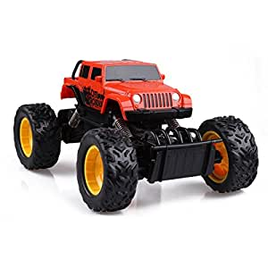 Rastar 59100-2 Rock crawler RC Voiture Téléguidée Miniature Echelle 1:18 Orange