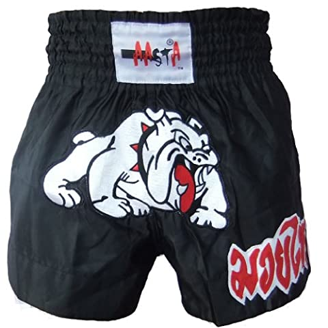MUAY THAI BULLDOG KICK BOXING SHORTS / BLACK