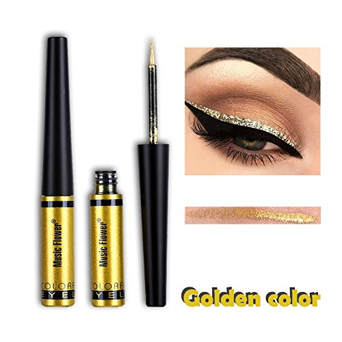 Glitzer Liquid Eyeliner Metallic Pigment Wasserdichte Lidschatten Gold