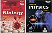 Selina ICSE for Class 10 (2019-20 Session) - Concise Biology & Physics (Set of 2 bo