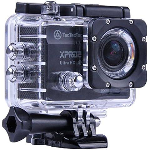 [NUOVO] TecTecTec XPRO2 Action Camera Ultra HD 4K - WiFi Camera di altissima qualità Ultra HD 16 Mp Black