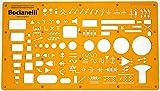 Trace Gabarit Symboles de Installation Electrique Electronique Génie Plan Schéma Circuit Câblage d'électricité Symboles Electriques Tableau Maison - Dessin Technique Traçage Illustration...