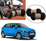 #8: Autopearl - Premium Make Cola Beige Round Car Neck Cushion/Neck Pillow For - Hyundai I20 Elite 2018