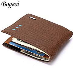 Bogesi Wallet for Mens -Brown Cross