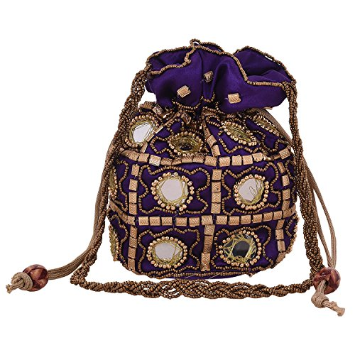 Craft Trade Ethnic Rajasthani Potli Bag For Women, Bridal, Casual, Party , Wedding  available at amazon for Rs.310