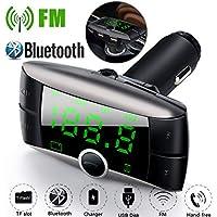 Malloom Transmisor FM Bluetooth Reproductores Reproductor de MP3 inalámbrico del Adaptador del Reproductor de Bluetooth del Coche del modulador del transmisor de FM