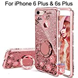 KC Glitter Auora with Round Ring Diamond Stand Transparent Silicon Back Cover