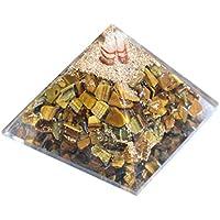 Pyramid Orgonite Tiger Eye 2.5-3 inch Gemstone Chakra Balancing Reiki Healing + 1 Green Aventurine Pointer pendant. preisvergleich bei billige-tabletten.eu