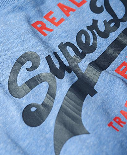 Superdry Herren T-Shirt M10013pp Blu (Bliss Blue Snowy)