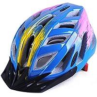 MAXTK Casco de Motocicleta Transpirable para Bicicleta de montaña, protección de Seguridad para Hombres y Mujeres, Equipo de equitación Ligero, Azul