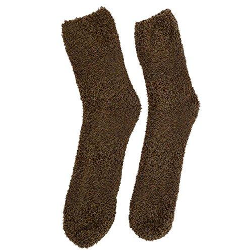 Demiawaking Women's Fluffy Thermal Socks Winter Thick Coral Fleece Socks for Girl Ladies